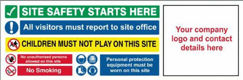 Contrator / Site Safety Banner